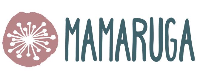 Mamaruga Logo (stylised flower and word)
